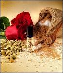 CARDAMOM ROSE SUGAR PERFUME OIL 5 ml - Brown Sugar, Cardamom, Moroccan & Bulgarian Rose Absolutes