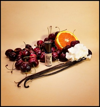 CHERRY VANILLA AMBEROSIA PERFUME OIL 5 ml - Amber, Cherry, Vanilla, Whipped Cream, Orange