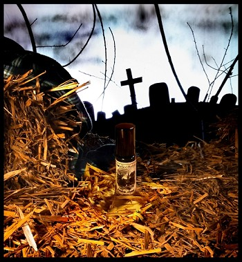 RIVERSIDE HAYRIDE PERFUME OIL 5 ml - Moist Dirt, White Carnations, Fallen Leaves, Bare Branches, Hay & a Hint of Pressed Apples